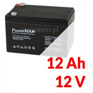 Akumulator PowerMax 12V 12Ah