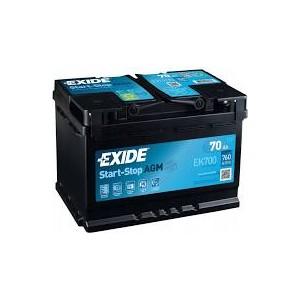 Akumulator AGM EK700 12V70Ah Start&Stop